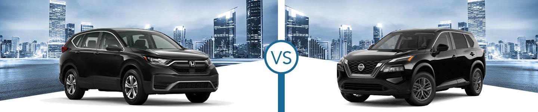 Compare the 2021 Honda CR-V & 2021 Rogue Crossovers