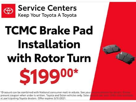 TCMC Brake Pad Special