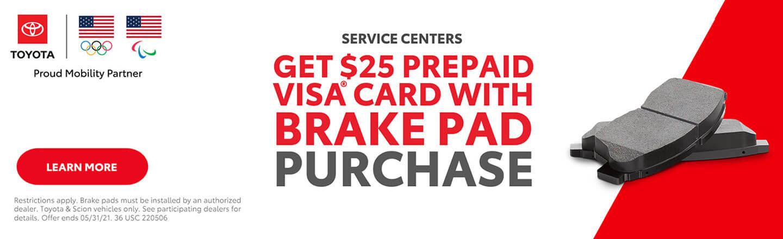 Prepaid Card Brake Pads