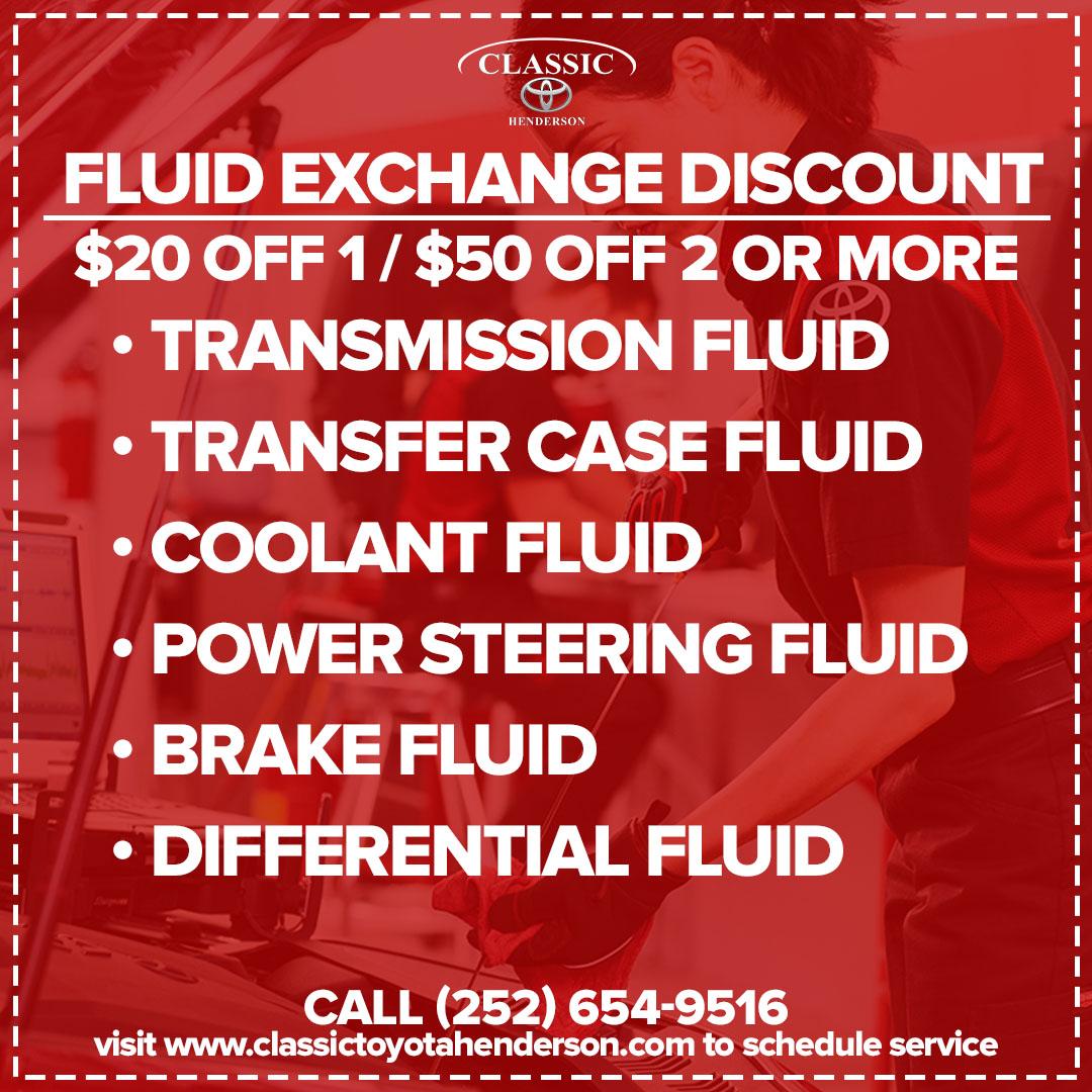 Fluid Exchange Discount