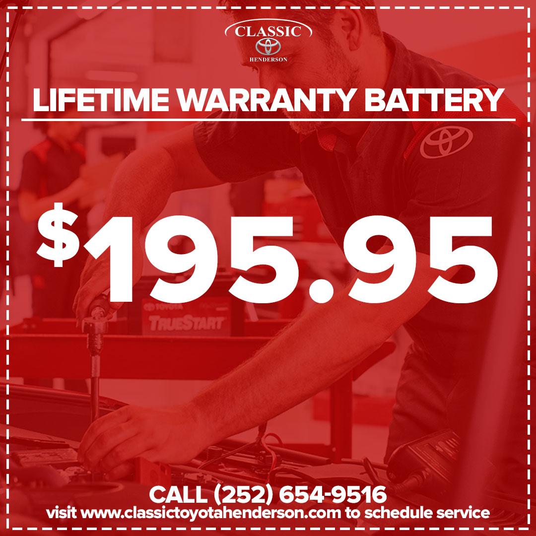 Lifetime Warranty Battery