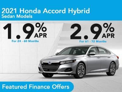 2021 Accord Sedan Hybrid Sedan Finance Offer