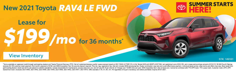 New 2021 Toyota RAV4 LE FWD