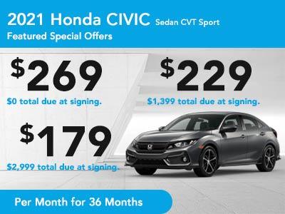 2021 Civic Sedan CVT Sport