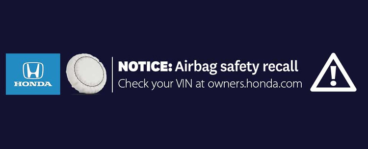 honda airbag safety recall
