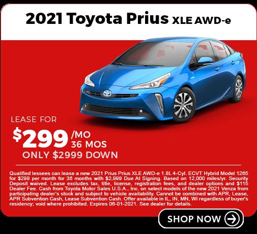 2021 Toyota Prius Lease