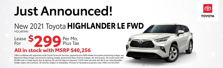 2021 Highlander LE