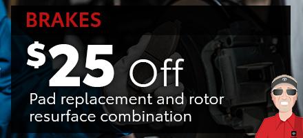 $25 off brakes
