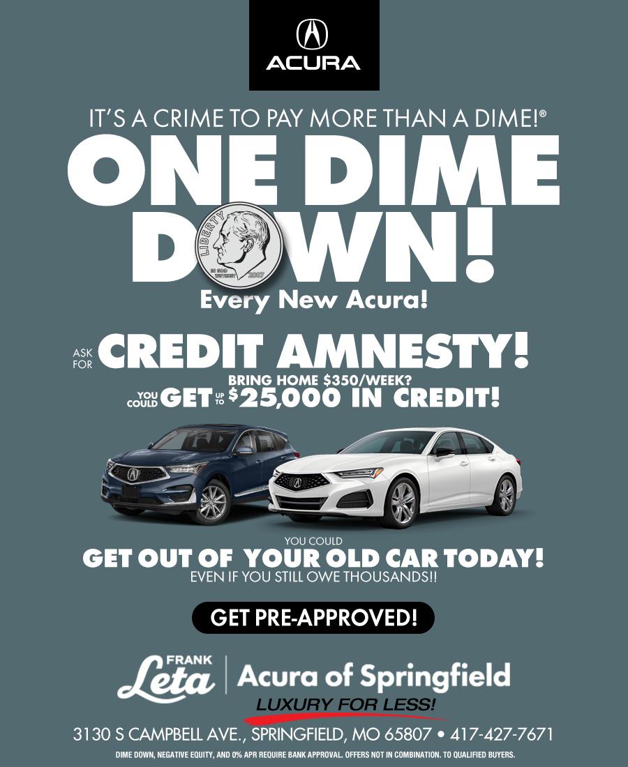 Dime Down Credit Amnesty