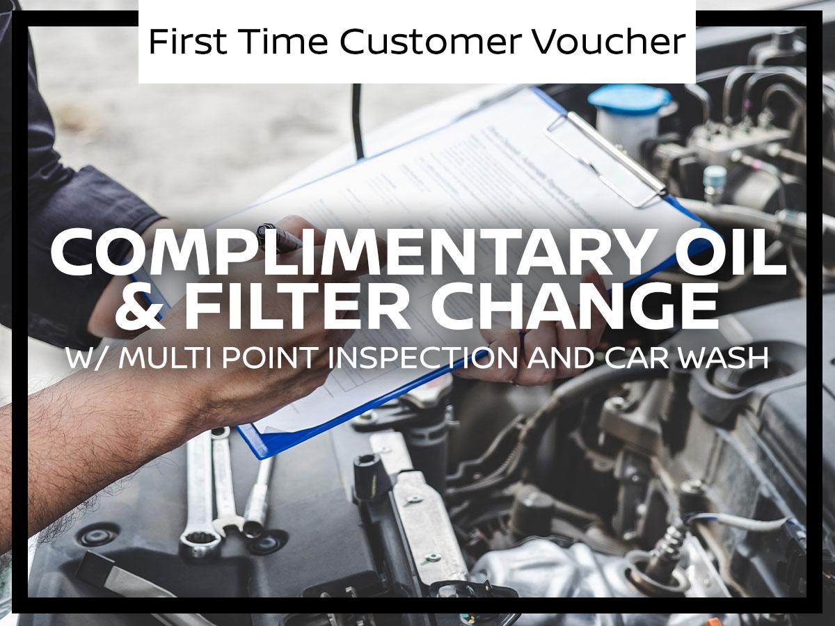 First Time Customer Voucher