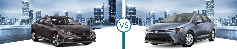 Compare the 2021 Honda Civic and 2021 Toyota Corolla