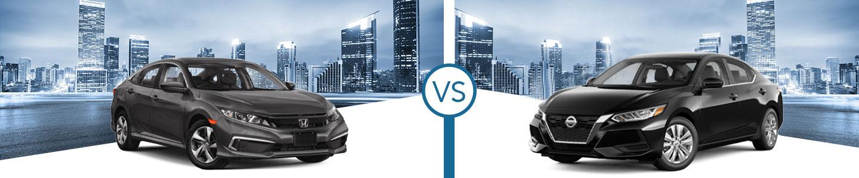 Compare the 2021 Honda Civic and 2021 Sentra