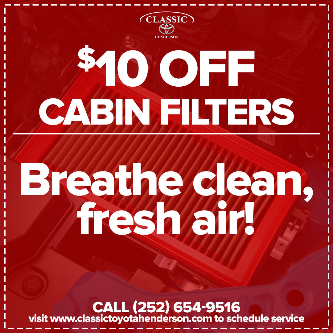 $10 Off Cabin Filters