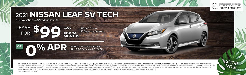 New 2021 Nissan Leaf SV