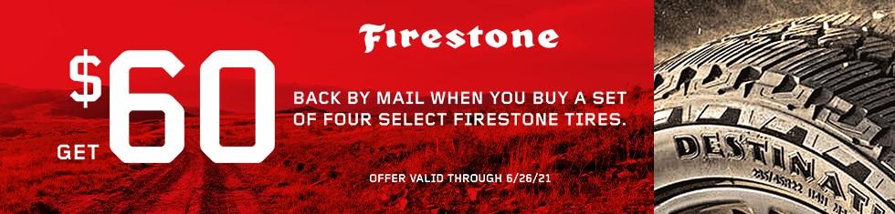 Firestone Tires - $60 Visa Prepaid Card