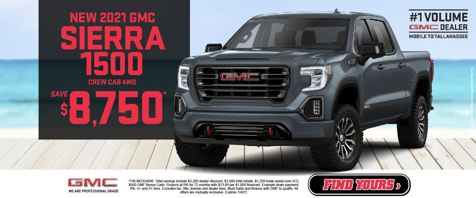New 2021 GMC Sierra 1500 - Save $8,750