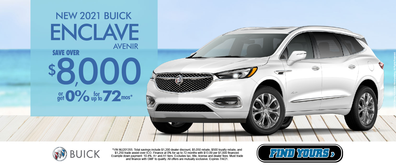 New 2021 Buick Enclave Avenir Save over $8,00