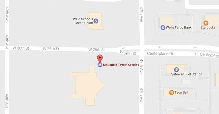 McDonald Toyota Greeley Map