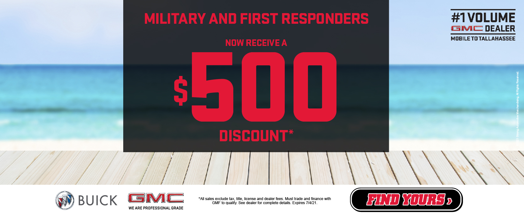 Military and First Responders - $500 Discount