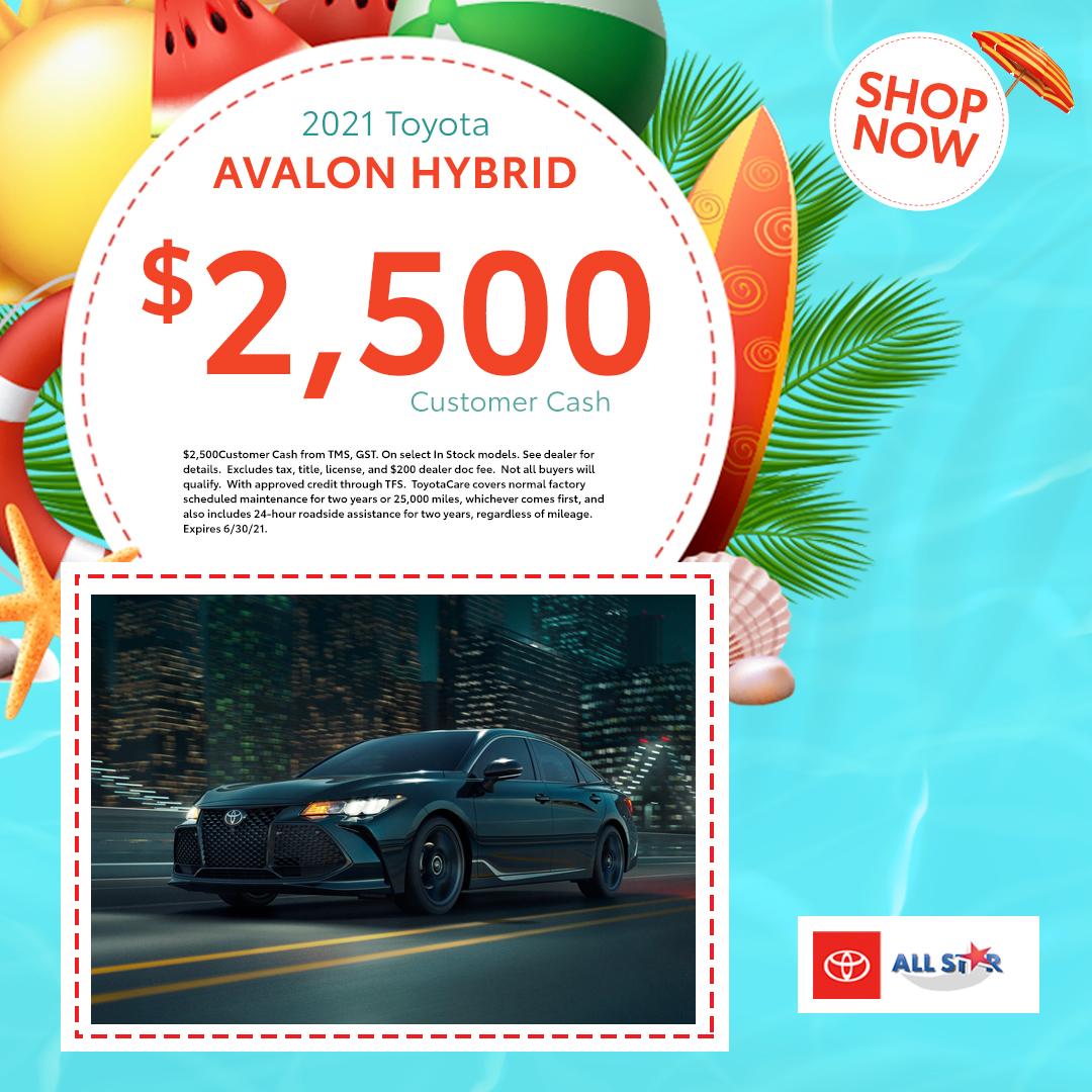 $2500 2021 Toyota Avalon Hybrid