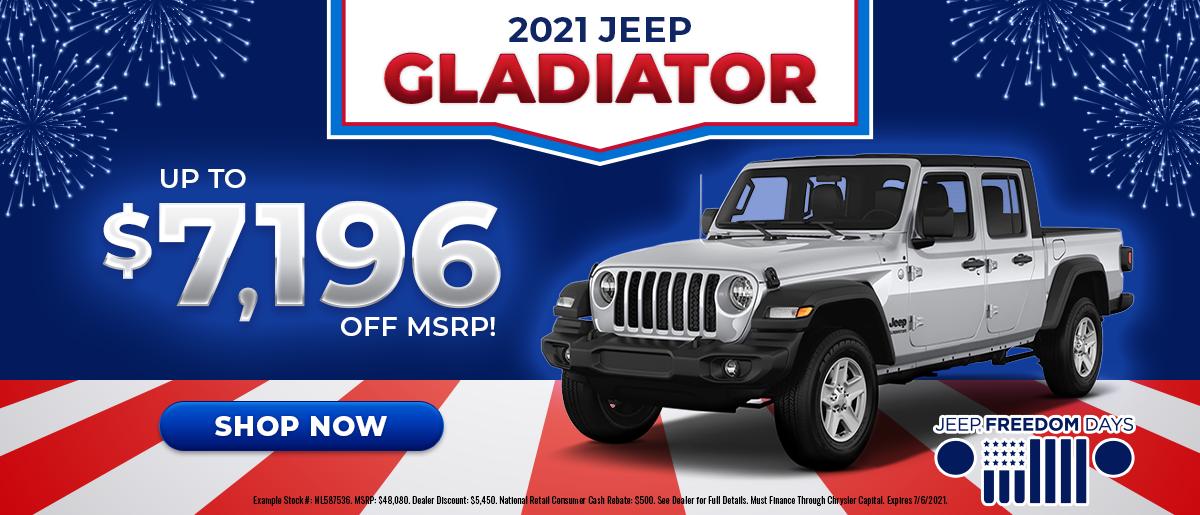 2021 Jeep Gladiator June Offer