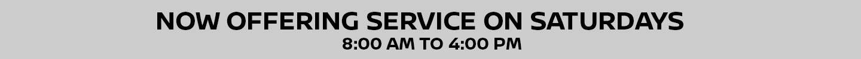 Service on Saturdays