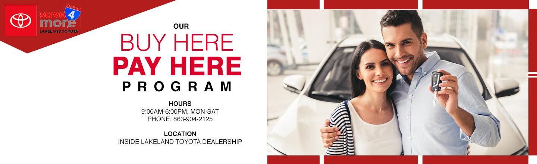 Lakeland Toyota Buy-Here Pay-Here Department