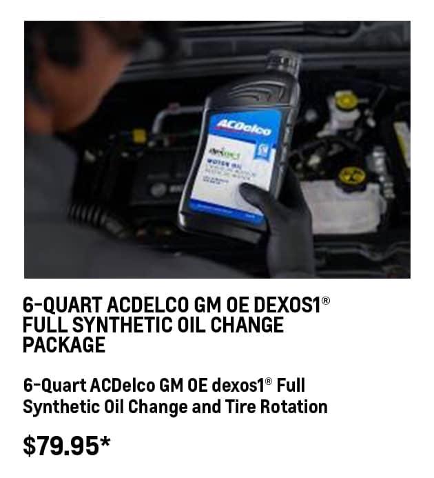6-QT Dexos1® Oil Change