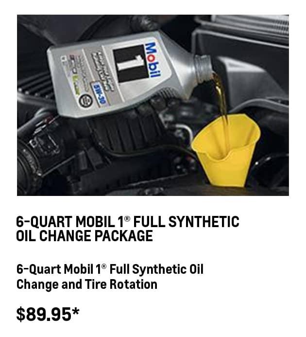 6-QT Mobil 1® Oil Change