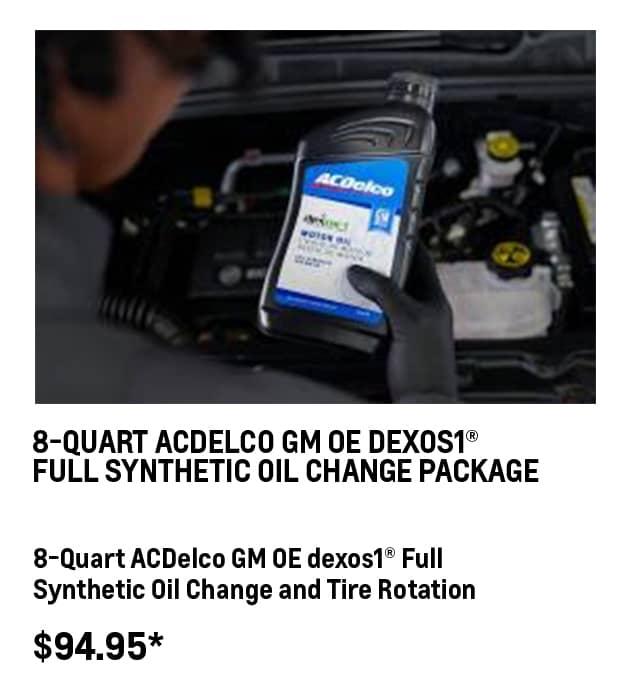 8-QT Dexos1® Oil Change