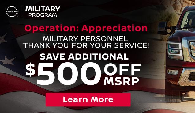 Nissan Military Rebate