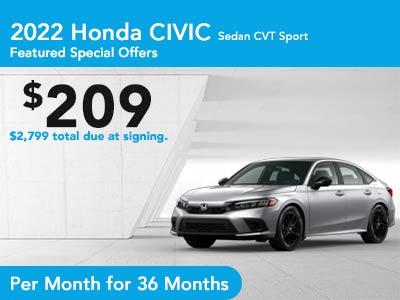 2022 Civic Sedan CVT Sport