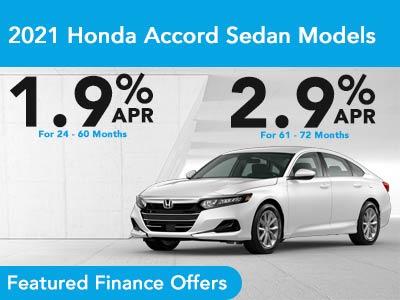 2021 Accord Sedan Finance Offer