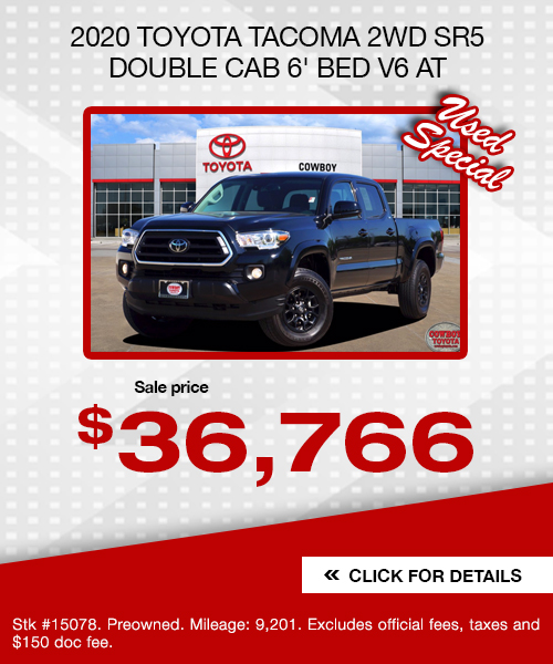 2020 Toyota Tacoma 2WD SR5 Double Cab 6' Bed V6 AT