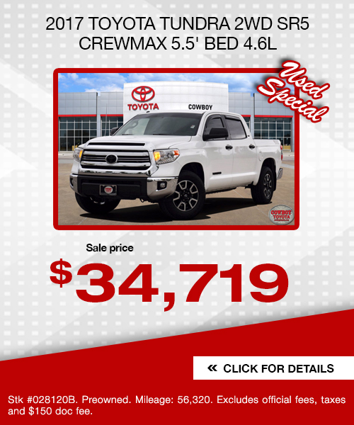 2017 Toyota Tundra 2WD SR5 CrewMax 5.5' Bed 4.6L