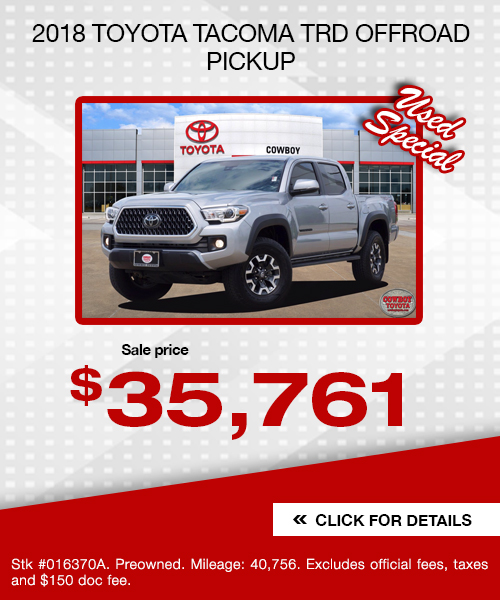 2018 Toyota Tacoma TRD Offroad Pickup
