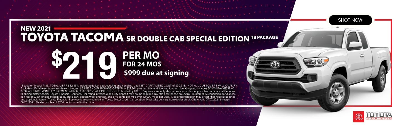 2020 Toyota TacomaSR5 Lease