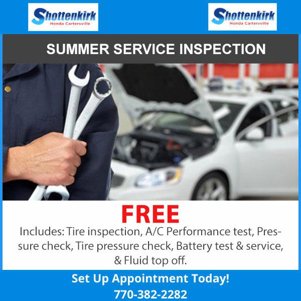 SUMMER SERVICE INSPECTION