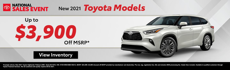 New 2021 Toyota Models