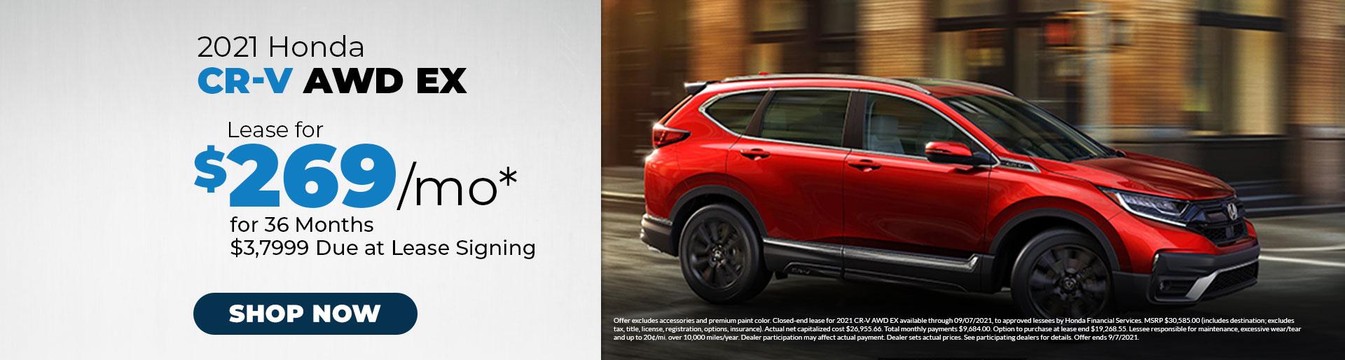 2021 Honda CR-V AWD EX Offer