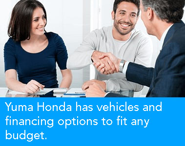 finance department at Yuma honda is here to help you with your next car purchase