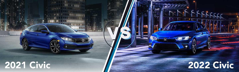 Model Year Comparison: 2021 Honda Civic Vs. 2022 Honda Civic