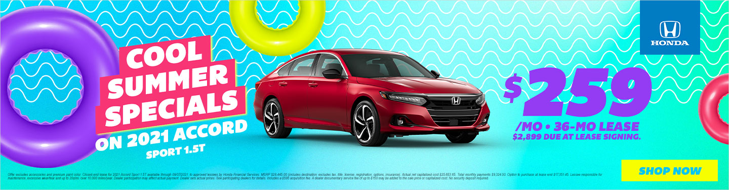 2021 Accord Lease Special