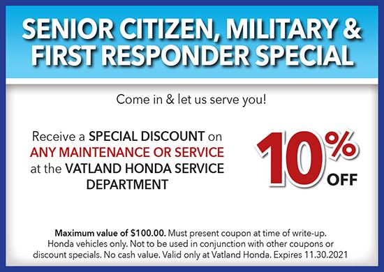 Senior, Military, First Responder Special
