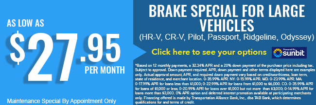 Brake Special for Large Vehicles