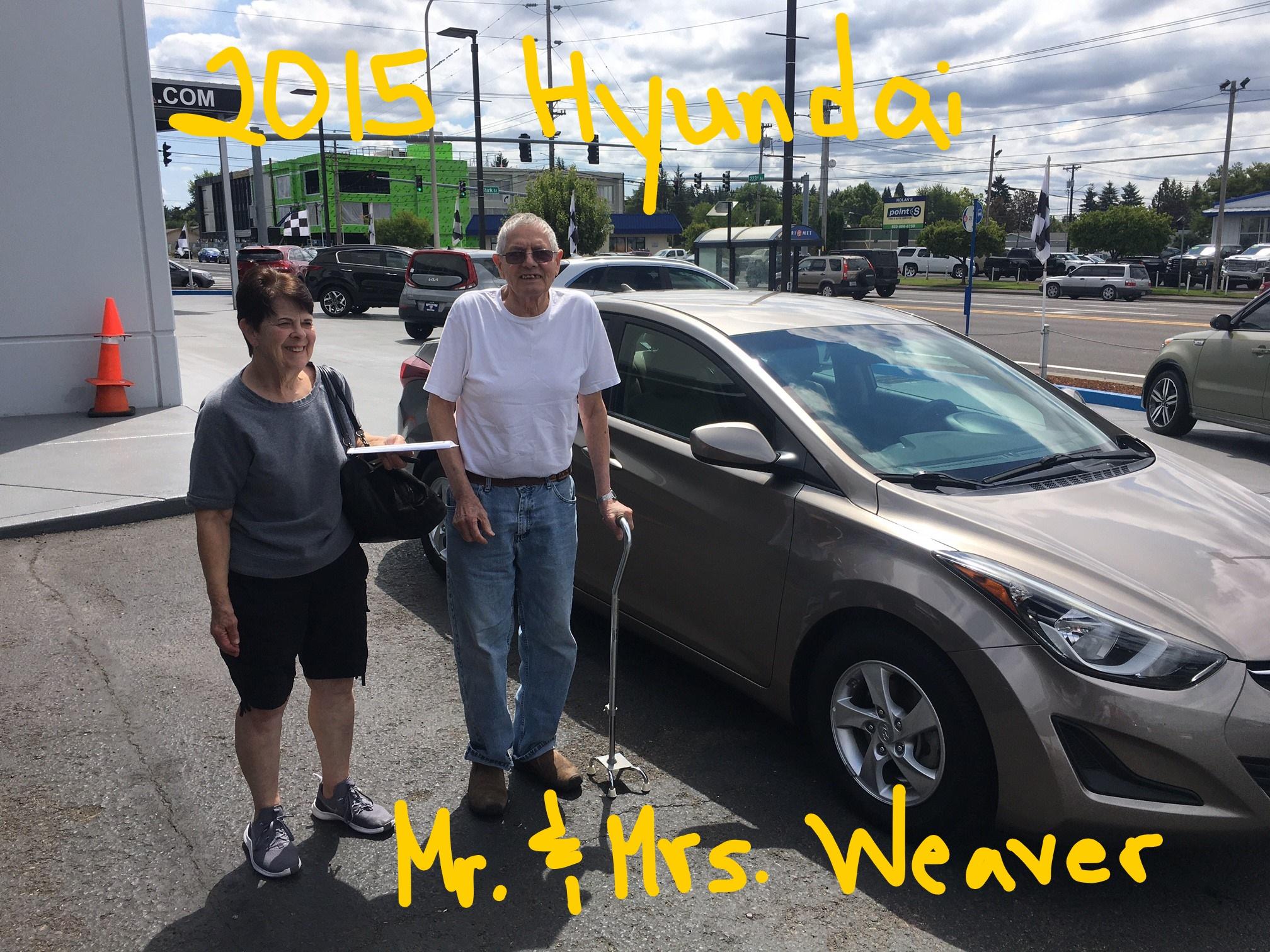 2015 Hyundai Mr & Mrs Weaver