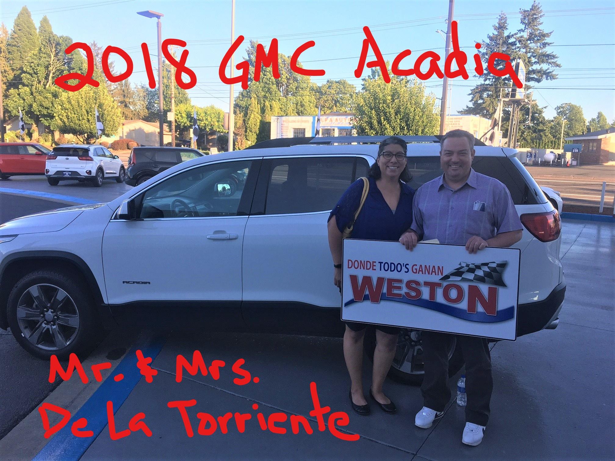 2018 GMC Acadia Mr & Mrs De La Torriente