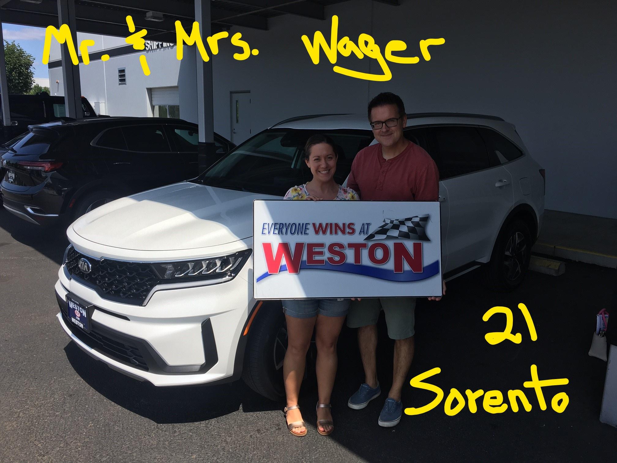 21 Sorento Mr & Mrs Wager