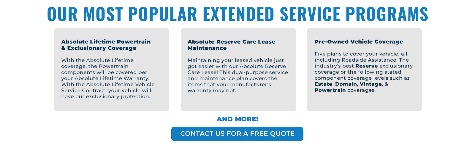 Extended Service Programs