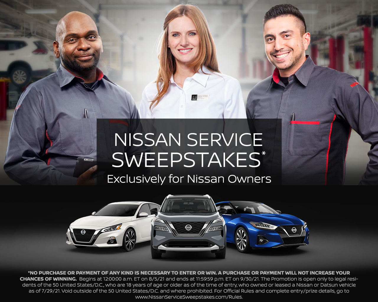 Nissan Service Sweepstakes*